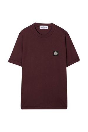 T-shirt bordeaux Stone Island junior STONE ISLAND JUNIOR | 8 | 731620147V0011