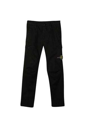 Stone Island black trousers STONE ISLAND JUNIOR | 9 | 731630814V0029