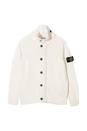 Stone Island Junior white cardigan  STONE ISLAND JUNIOR | 7 | 7316510A1V0099