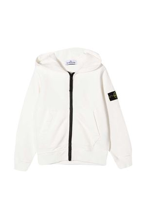 White sweatshirt teen Stone Island Junior  STONE ISLAND JUNIOR | -108764232 | 731660740V0001