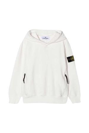 Stone Island Junior white sweatshirt  STONE ISLAND JUNIOR | -108764232 | 731661042V0001