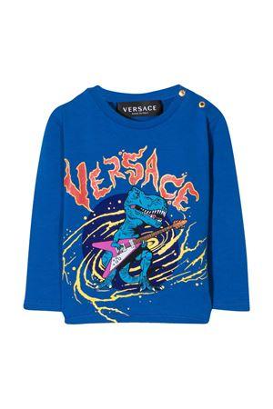 Blue t-shirt Young Versace YOUNG VERSACE | 8 | YB000182YA00019A1369