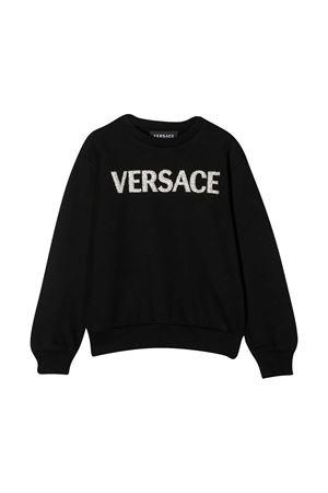 Black sweatshirt Young Versace  YOUNG VERSACE | -108764232 | YC000425YA00078A1008