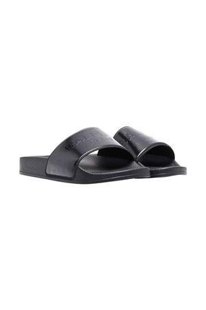 unisex black slippers  BALMAIN KIDS | 11041766 | 6P0606Z0039930