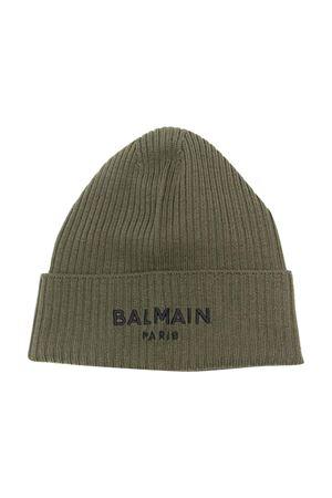 Cappello verde con logo BALMAIN KIDS | 75988881 | 6P0727W0031720
