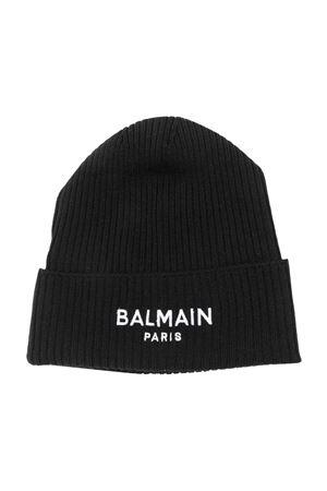 Cappello nero con logo BALMAIN KIDS | 75988881 | 6P0727W0031930