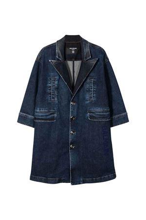 unisex denim trench coat BALMAIN KIDS | 1463385353 | 6P2560D0004606
