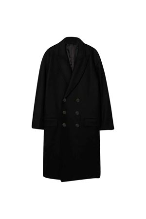 Teen black double-breasted coat BALMAIN KIDS | 17 | 6P2670E0032930T