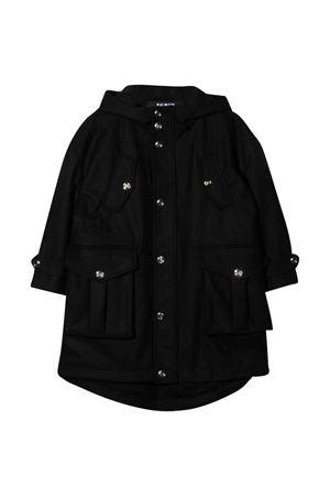 Cappotto teen nero con cappuccio BALMAIN KIDS | 13 | 6P2680A0022930T