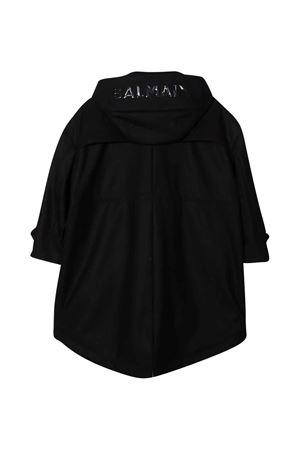 Cappotto nero con cappuccio BALMAIN KIDS | 13 | 6P2680A0022930