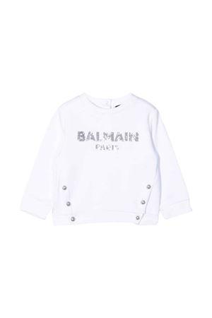 newborn white sweatshirt  BALMAIN KIDS | -108764232 | 6P4800F0015100