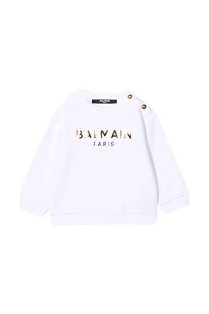 Felpa bianca neonato BALMAIN KIDS | -108764232 | 6P4860F0015100OR