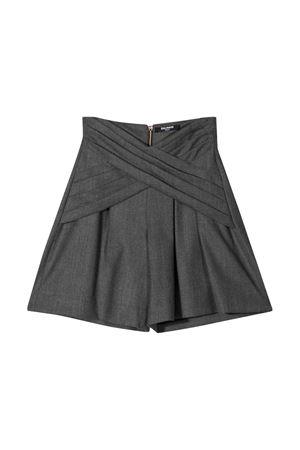 Gray teen bermuda shorts BALMAIN KIDS | 5 | 6P6089I0008912T
