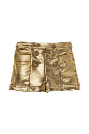 Metallic gold shorts with buttons BALMAIN KIDS | 5 | 6P6879B0007219