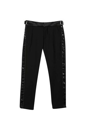 Black trousers with side bands BALMAIN KIDS   9   6P6D30I0023930