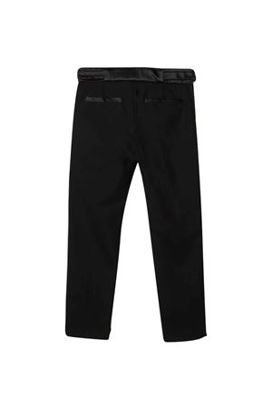 Black teen trousers with side bands BALMAIN KIDS   9   6P6D30I0023930T