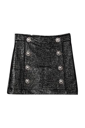 Mettallic black teen skirt BALMAIN KIDS   15   6P7020B0006930T