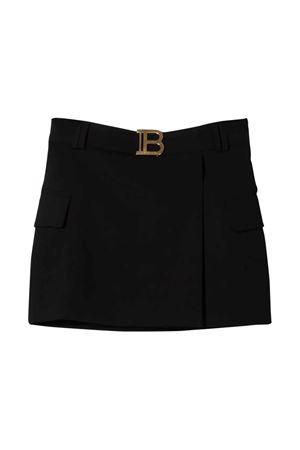Black skirt with application BALMAIN KIDS   15   6P7080I0023930