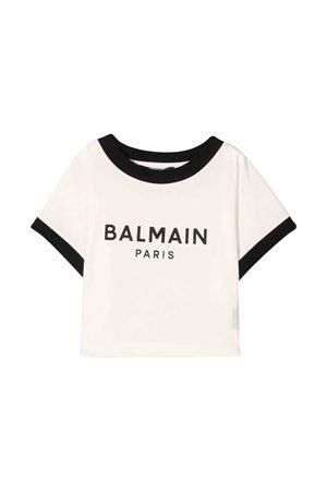 unisex white t-shirt  BALMAIN KIDS | 8 | 6P8071Z0003100NE