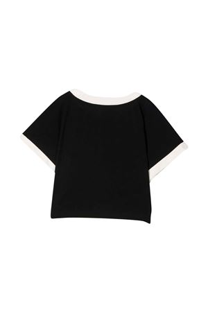 black teen t-shirt  BALMAIN KIDS | 8 | 6P8071Z0003930BGT
