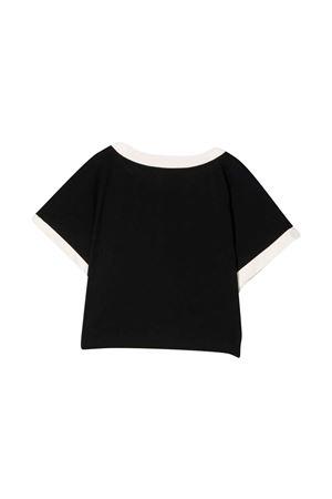 unisex black t-shirt  BALMAIN KIDS | 8 | 6P8071Z0003930BG