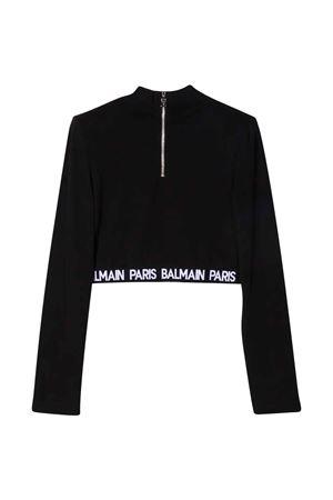 unisex black sweatshirt BALMAIN KIDS | 8 | 6P8120J0006930NE