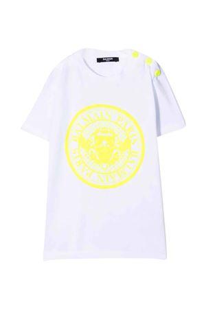 white teen t-shirt  BALMAIN KIDS | 8 | 6P8651Z0003100GLT
