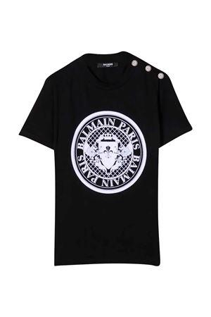 black t-shirt  BALMAIN KIDS | 8 | 6P8651Z0003930BC