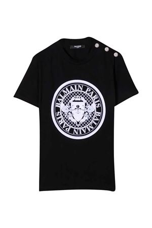 black teen t-shirt  BALMAIN KIDS | 8 | 6P8651Z0003930BCT