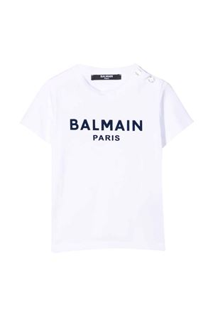 T-shirt bianca neonato BALMAIN KIDS | 8 | 6P8A11Z0003100BL