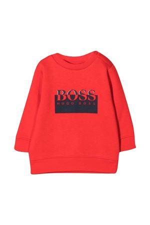Felpa neonato rossa con stampa nera BOSS KIDS | -108764232 | J0589397E