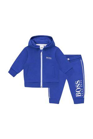 Completo blu felpa e pantalone con stampa BOSS KIDS | 42 | J08055829