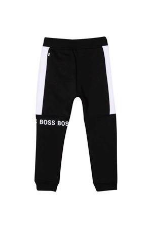 Pantalone nero e bianco con coulisse BOSS KIDS | 9 | J2472009B