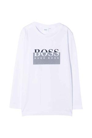 unisex white t-shirt  BOSS KIDS | 8 | J25L6410B