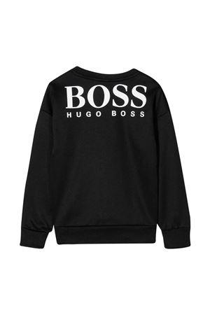 Felpa nera con logo bianco BOSS KIDS | -108764232 | J25L9909B