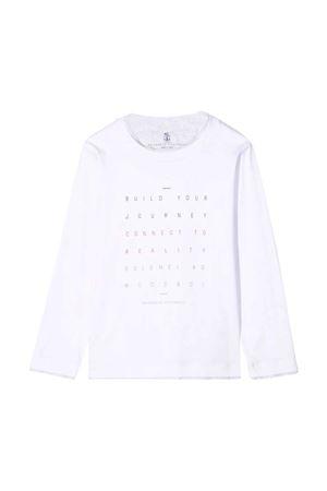 white teen t-shirt Brunello Cucinelli Kids | 8 | B0B13T191CAT72T
