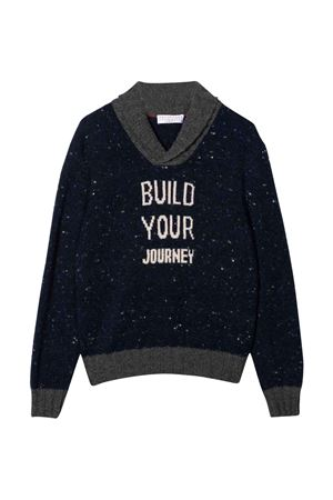 black sweater Brunello Cucinelli Kids | 5032346 | B46M72402CXD35