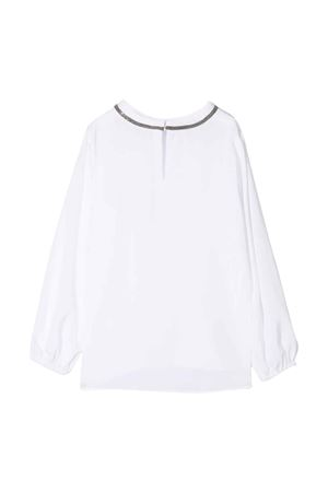 Blusa bianca bambina Brunello Cucinelli Kids | 7 | BF948T430C159