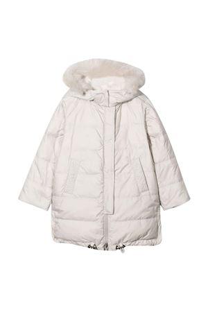 Piumino bianco con cappuccio Brunello Cucinelli Kids | 13 | BH504J402C1331