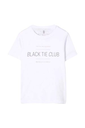 white t-shirt  Brunello Cucinelli Kids | 7 | BH894S152C6159