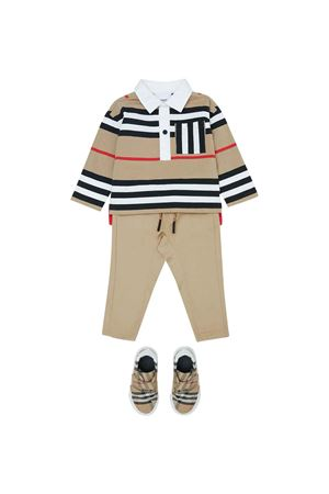 Pantaloni beige neonato BURBERRY KIDS | 9 | 8041040A7026