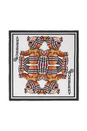 Foulard bianco unisex BURBERRY KIDS | -709280361 | 8041246A1464