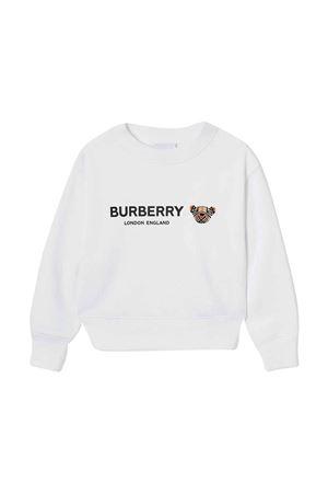 White sweatshirt Burberry kids BURBERRY KIDS | -108764232 | 8042941A1464