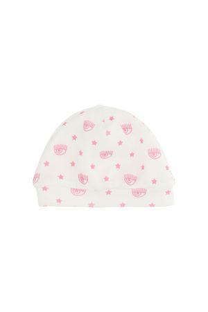 Cappello bianco con stampa rosa Chiara Ferragni kids CHIARA FERRAGNI KIDS | 75988881 | 55800580270190