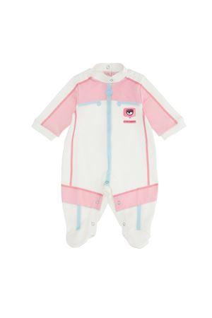 Tutina bianca rosa e azzurra con applicazioni Chiara Ferragni kids CHIARA FERRAGNI KIDS | 1491434083 | 55820780200001