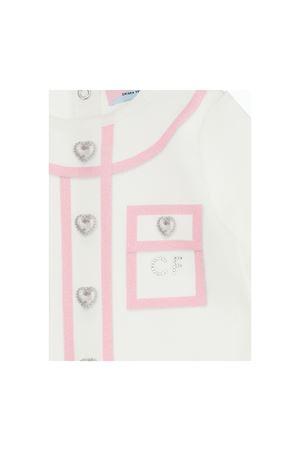 White romper with pink details Chiara Ferragni kids CHIARA FERRAGNI KIDS | 1491434083 | 55820880200190
