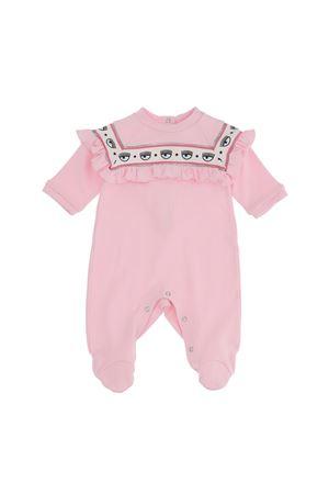 Tutina rosa con stampa logata Chiara Ferragni kids CHIARA FERRAGNI KIDS | 1491434083 | 55821280200090