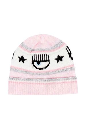 Pink baby girl cap CHIARA FERRAGNI KIDS | 75988881 | 59800380400090