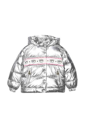 silver down jacket  CHIARA FERRAGNI KIDS | 783955909 | 59810080470075