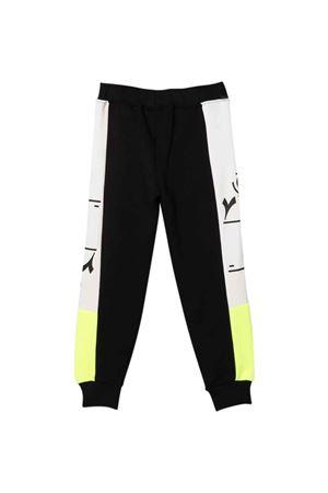 Jogging pants neri bicolore bambino DIADORA JUNIOR | 9 | 028798110
